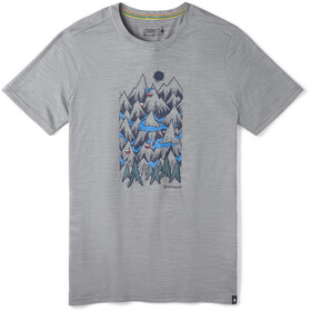Smartwool Merino Sport 150 Mountain Ventures Maglia A Maniche Corte Uomo, light gray heather